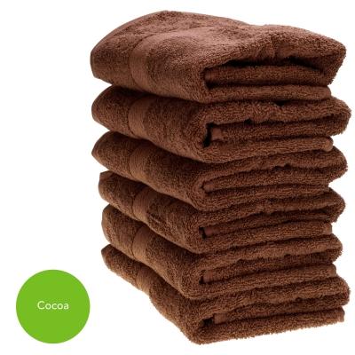 Hand Towel 50x90cm 500gm x 6 - Colour: Cocoa