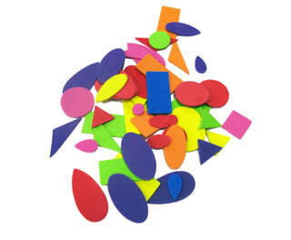 Gompels Assorted Eva Foam Shapes 200
