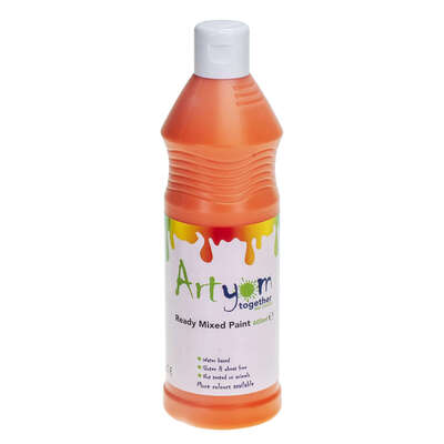 Ready Mixed Poster Paint 600ml - Colour: Orange