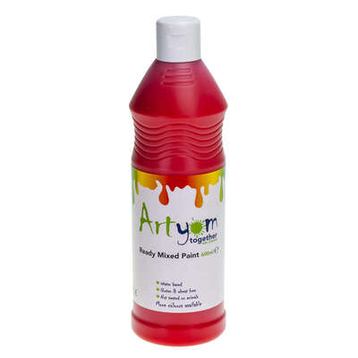 Ready Mixed Poster Paint 600ml - Colour: Red