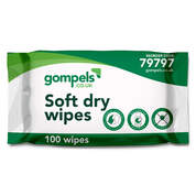 Gompels Standard Dry Wipes 100 Pack