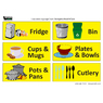 Kitchen Identification Self Adhesive Sign A4