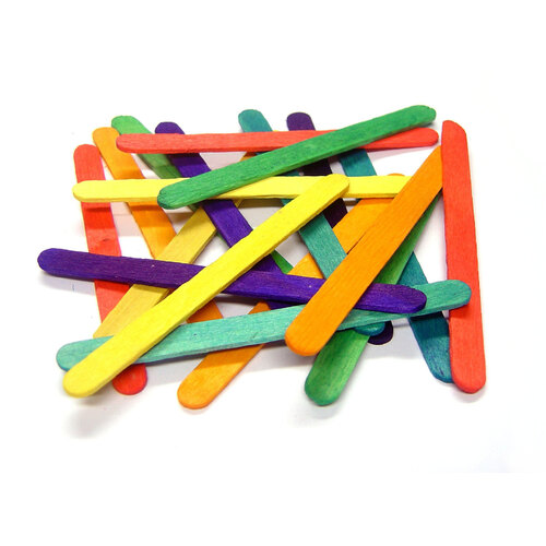 Small coloured lolli sticks 1000 in arts crafts craft for Bulk arts and crafts