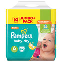 Pampers Baby Dry Jumbo Size 6 Giant 62 Pk