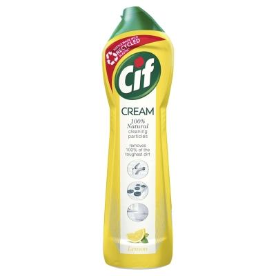 Cif Lemon Cream Cleaner 500ml 8 Pack