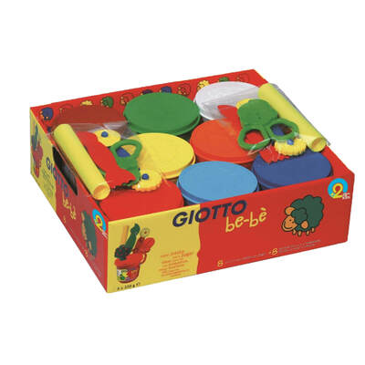 Giotto Be-Be Modelling Dough Assorted 8 Pack