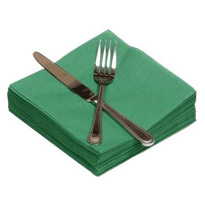 Napkins 33cm 2ply Holly Green 100