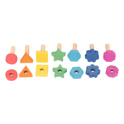 Rainbow Wooden Nuts & Bolts 7 Pack