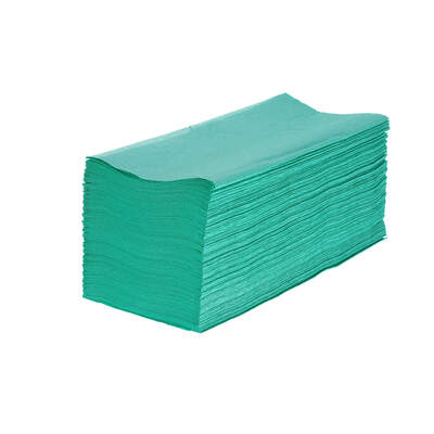 Soclean V Fold Green Paper Towels 1ply 5000