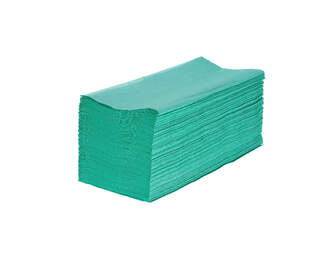 V Fold Recycled Paper Hand Towels Green 1ply 5000