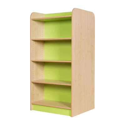 Kubbyclass Double Sided Bookcase Beech - Height: 1500mm