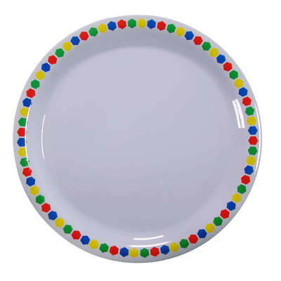"Gompels Super Tuff Dinner Plate 9"" / 230mm 12pk - Colour: Patterned"
