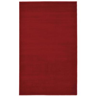 Plain Rug 160x230cm - Colour: Red