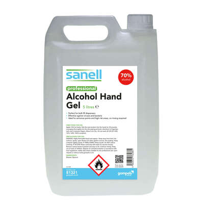 Sanell 70% Alcohol Hand Gel 5l