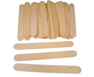 Plain Wooden Jumbo Lolli Sticks Pack 100 150mm x 18mm