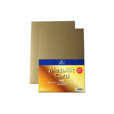 A4 Metallic Card 20 Sheets - Colour: Gold