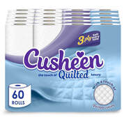 Cusheen 3ply Luxury Quilted Toilet Tissue x 60