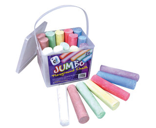 Jumbo Playground Chalks 20 Pcs