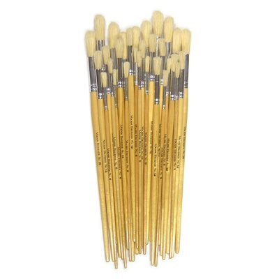 Hog Brushes Long Round Assorted Class Pack 30