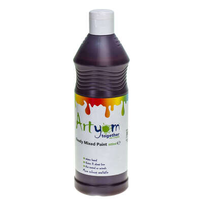 Ready Mixed Poster Paint 600ml - Colour: Brown