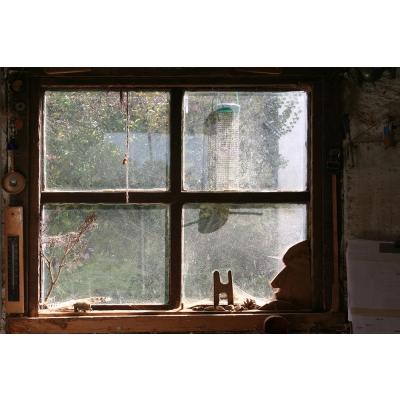 "Wall Vinyl Window Pane Potting Shed 60"" x 40"""