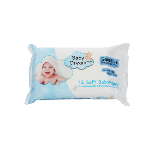 Baby Dream Sensitive Baby Wipes 72 Gompels Healthcare