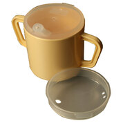 Twin Handled Mug With Feeding and Narrow Spout Lids