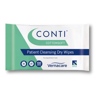 Conti Cotton Soft Large Dry Wipes 100 Pack