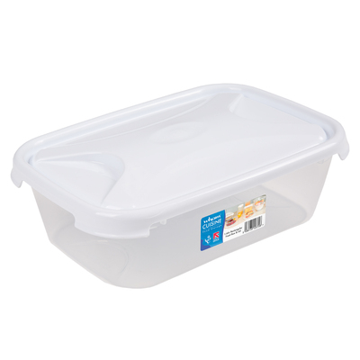 Rectangular Food Storage Box With Lid - Size: 1.6l