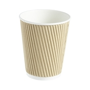 Kraft Ripple Wall Coffee Cup 120z 25 Pk