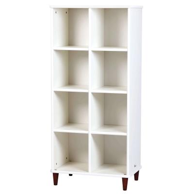 Cube Shelf With Back 4x2 White