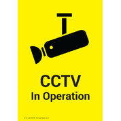 Cctv in Operation Self Adhesive Sign