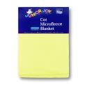 Cot Micro Fleece Blanket Pastel Yellow