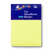Cot Micro Fleece Blanket Pastel Yellow