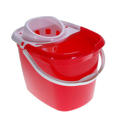 Plastic Mop Bucket 15 Litre - Colour: Red