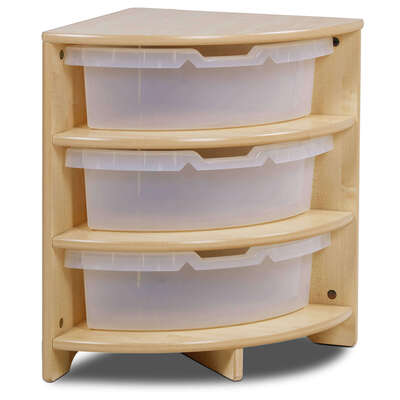 Quad Tray Storage With 3 Clear Tubs
