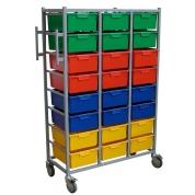 Karri Cart Triple Laundry Trolley 24 Trays