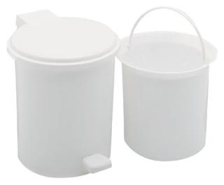 Addis Plastic Pedal Bin 3ltr White