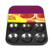 Bun Tin 12 Cup Non Stick 310mm x 235mm x 10mm