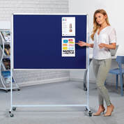 Mobile Noticeboard Blue 1200 x 900mm