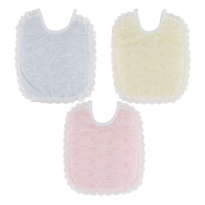 Baby Bibs Assorted Colours 12 Pack
