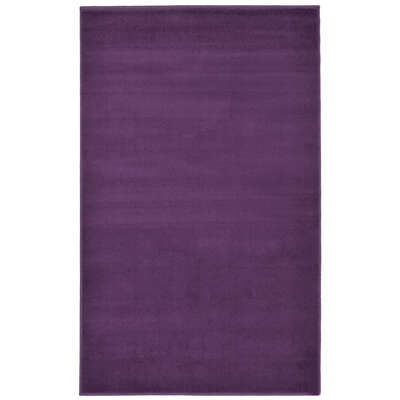 Plain Rug 120x170cm - Colour: Plum