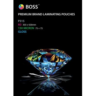 Laminating Pouches A3 2x75 Micron 100 Pk