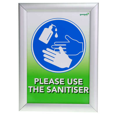 Gompels Hand Sanitiser/Hand Washing Sign A4