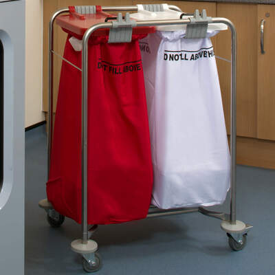 Medi Cart Laundry Trolley Two Bag