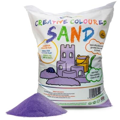Coloured Play Sand 15kg - Colour: Purple