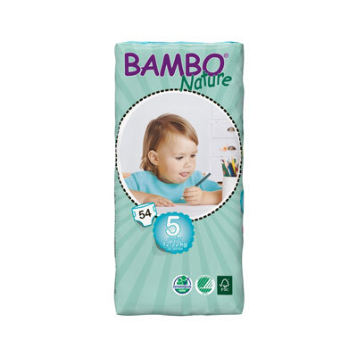 Bambo Nature Junior Size 5 Nappies 54
