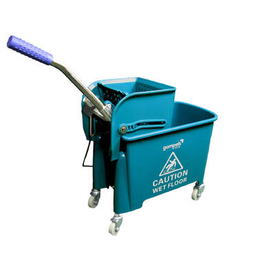 Gompels Mop Bucket With Wringer 20l - Colour: Green