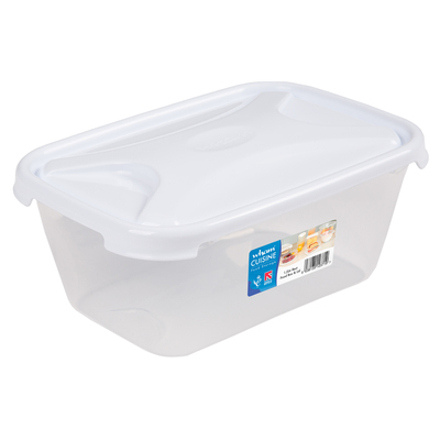 Rectangular Food Storage Box With Lid - Size: 1.2l