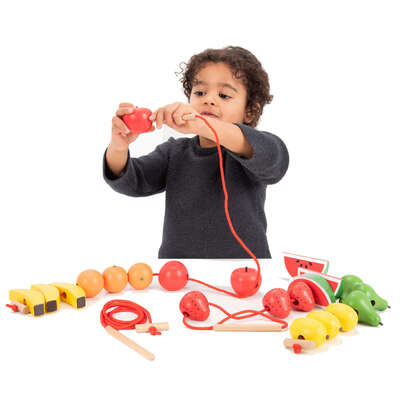 Wooden Lacing Fruits 23 Pack